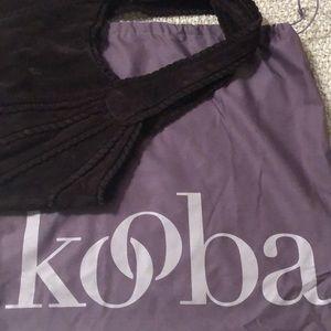 Kooba brown suede hobo bag